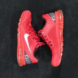 Nike + red air max sneakers